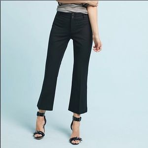 anthropologie essential crop flare chino pant navy